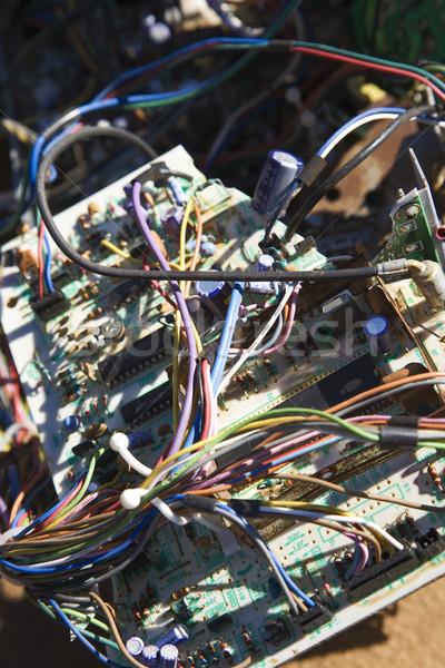 Fils électrique composants vieux brisé voiture Photo stock © iofoto