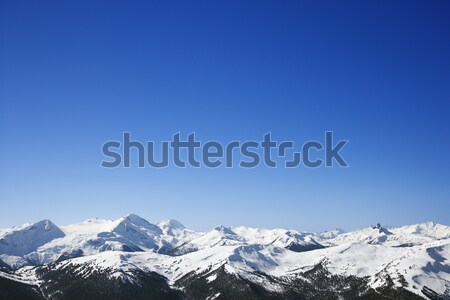 Scenic snow covered mountains.  Stock photo © iofoto