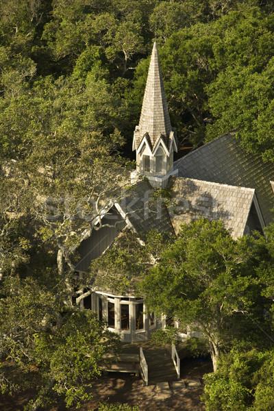 Igreja árvores careca cabeça Foto stock © iofoto