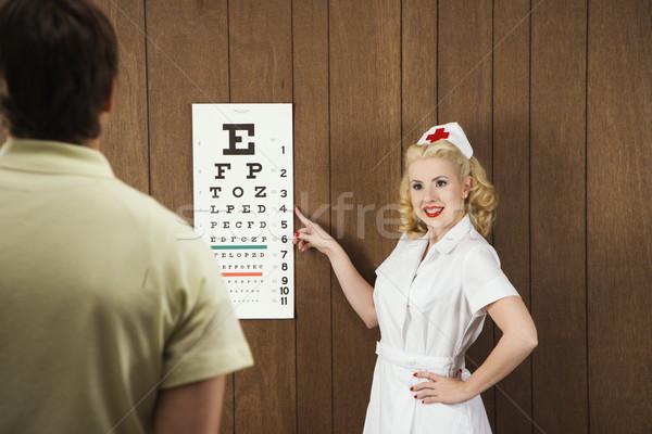 Infermiera occhi grafico femminile punta Foto d'archivio © iofoto