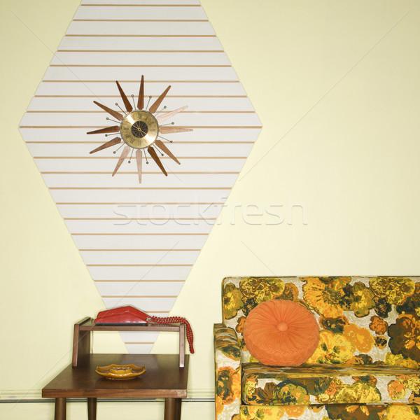 Retro oturma oda dekore edilmiş renkli mobilya Stok fotoğraf © iofoto
