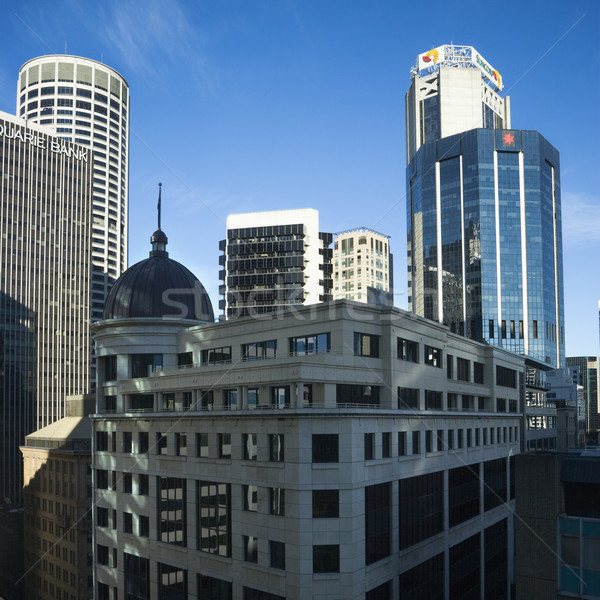 Sydney Australië wolkenkrabbers gebouwen reizen skyline Stockfoto © iofoto