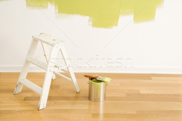 Ladder and paint supplies. Stock photo © iofoto
