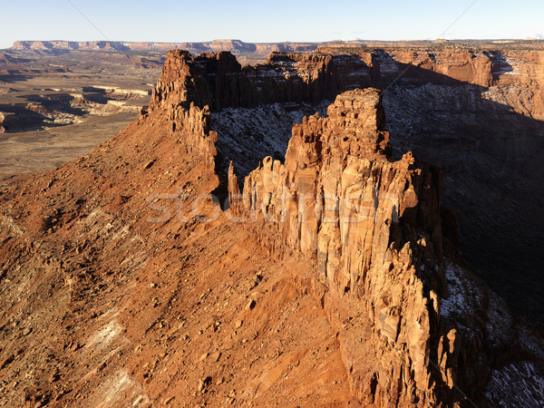 Crag and Canyon in Desert Stock photo © iofoto