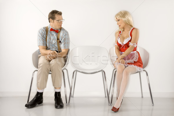 Attraction of man and woman. Stock photo © iofoto