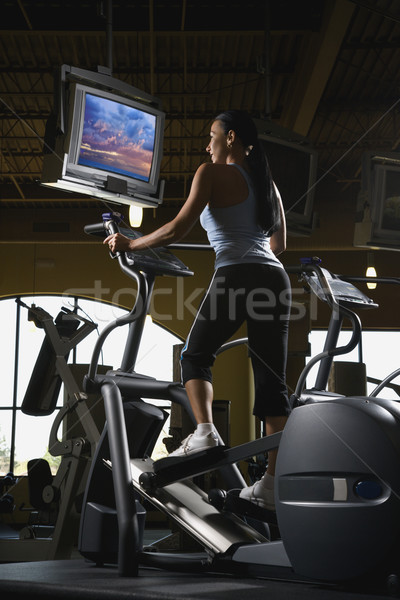 Woman at gym. Stock photo © iofoto
