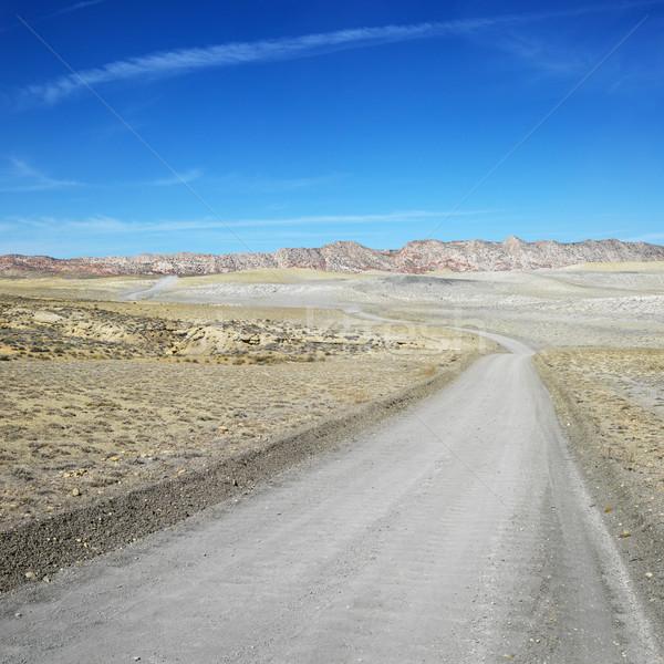 未舗装の道路 峡谷 砂漠 旅行 色 汚れ ストックフォト © iofoto