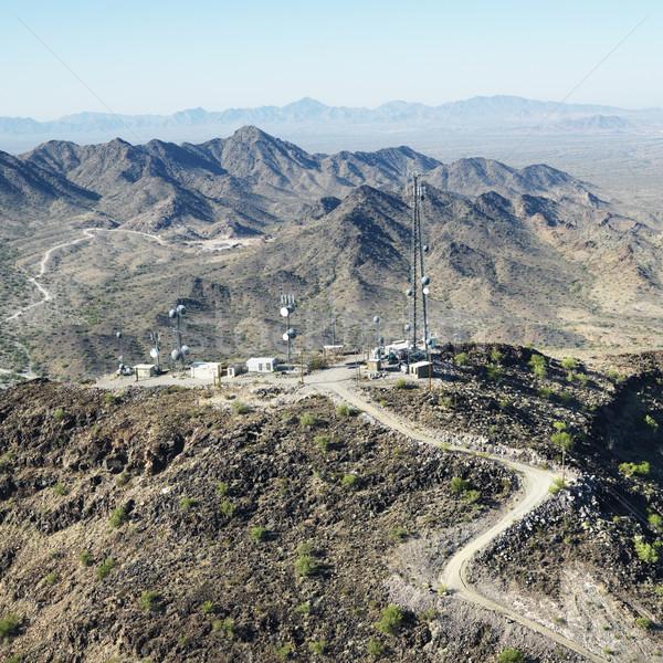 Woestijn satelliet luchtfoto communicatie zuidwest Stockfoto © iofoto