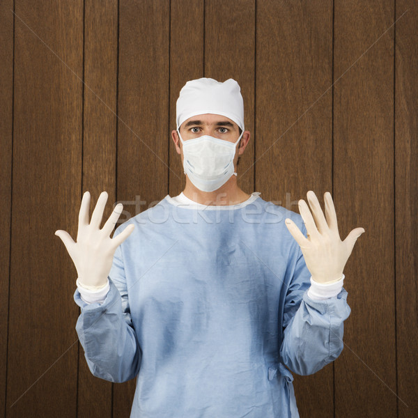 Surgeon in uniform. Stock photo © iofoto