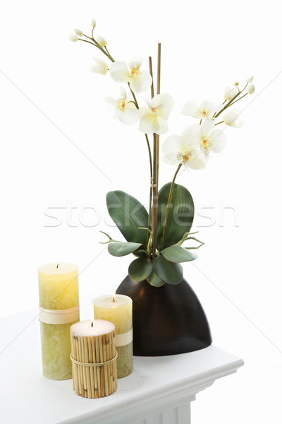 Candles and flowers. Stock photo © iofoto