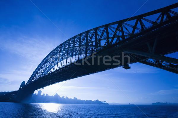 Сток-фото: моста · Сидней · Австралия · сумерки · мнение