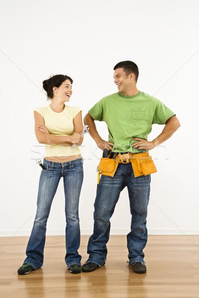 Renovating home couple. Stock photo © iofoto