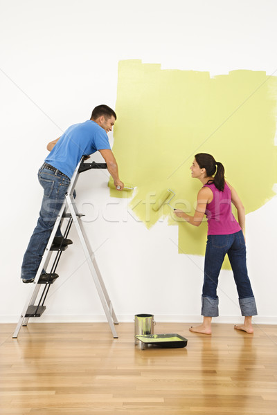 Couple painting house. Stock photo © iofoto
