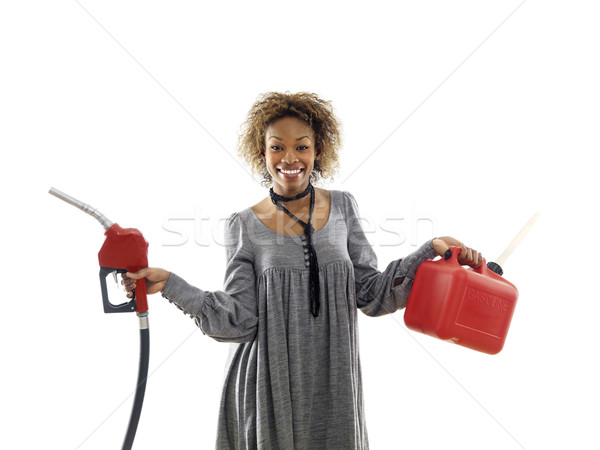 Woman with gasoline Stock photo © iofoto