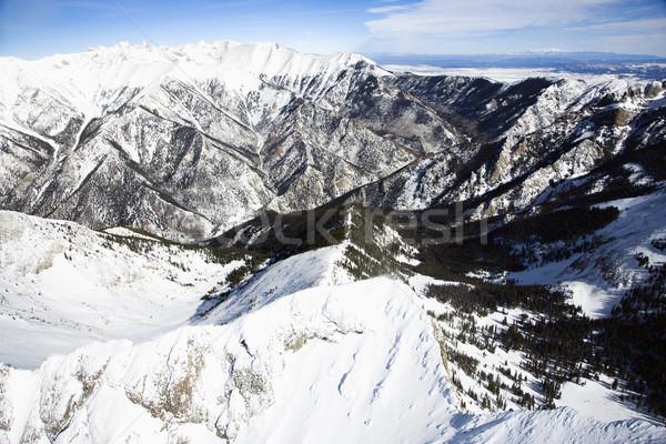 Snowy Mountain Range Stock photo © iofoto