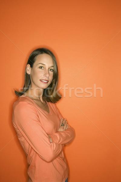 肖像 若い女性 白人 女性 立って ストックフォト © iofoto