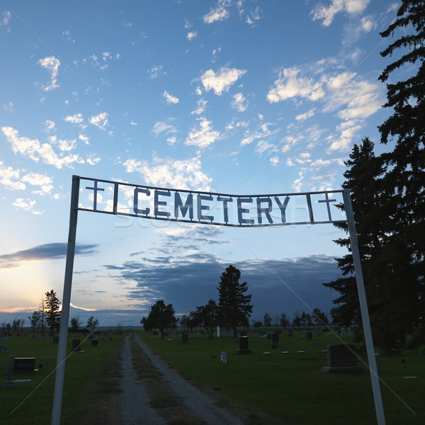 Cemetary entrance sign. Stock photo © iofoto
