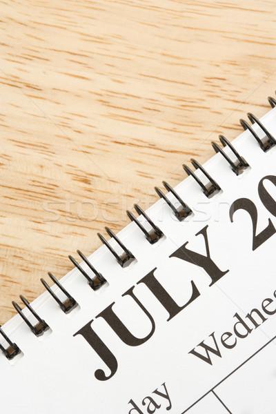 July on calendar. Stock photo © iofoto
