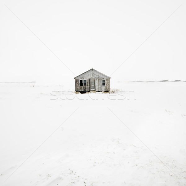 Abandoned house in winter. Stock photo © iofoto