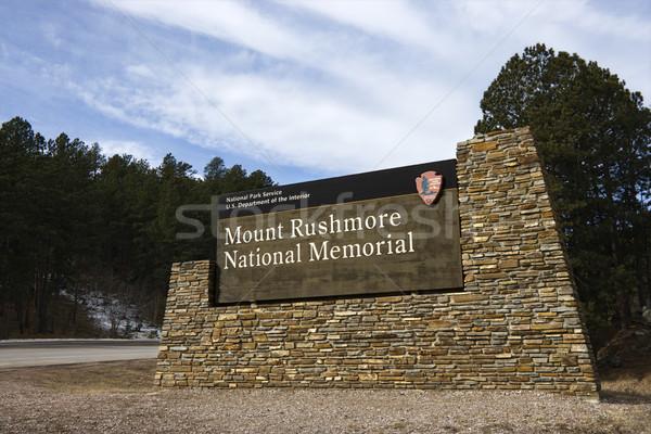 Mount Rushmore sign. Stock photo © iofoto