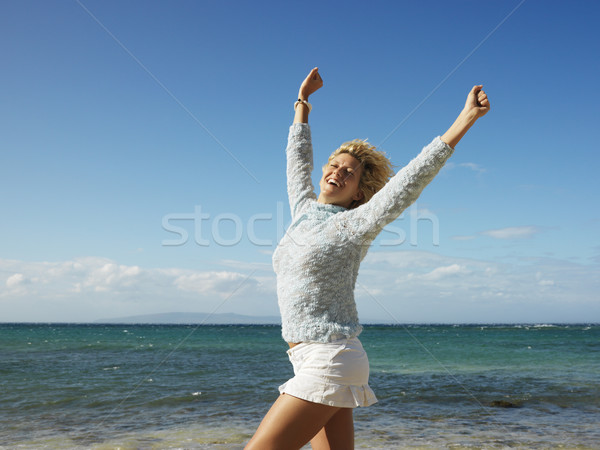 Joyful woman in Maui Stock photo © iofoto
