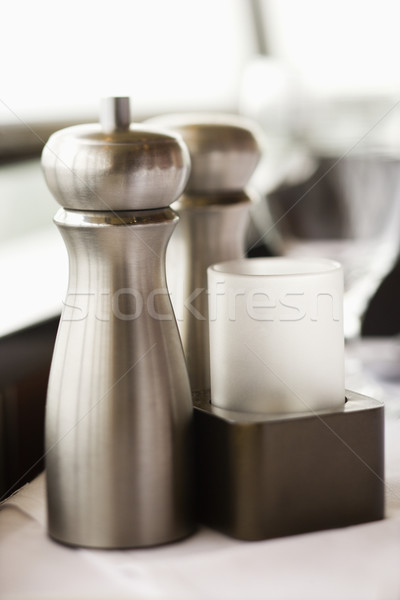 Salt and pepper shaker. Stock photo © iofoto