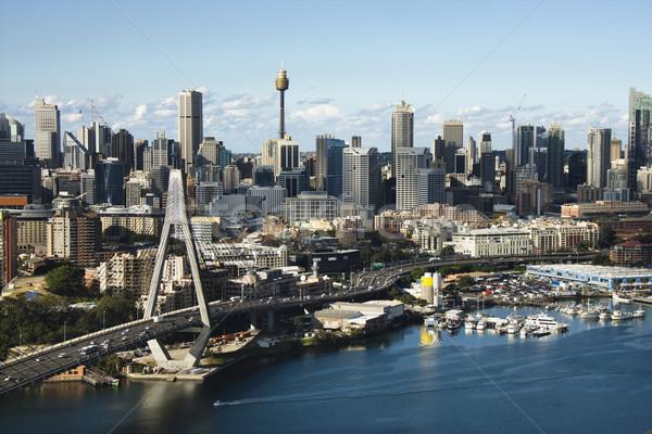 Сидней Австралия антенна моста центра Сток-фото © iofoto