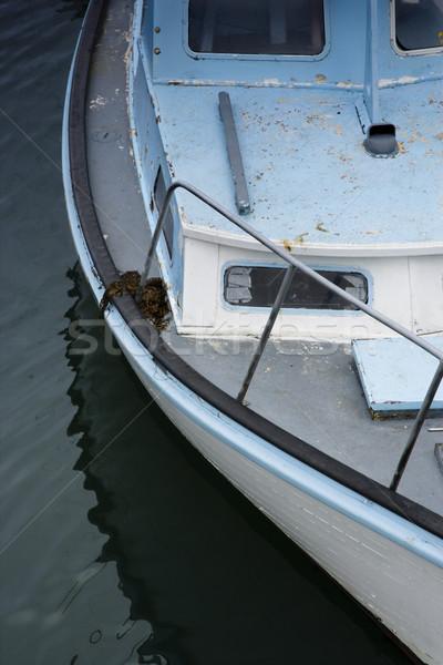 Motorcsónak közelkép motorcsónak víz Ausztrália csónak Stock fotó © iofoto