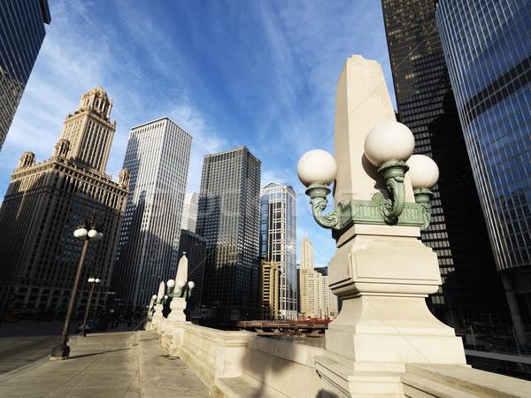 Chicago Illinois sokak sahne ışık köprü Stok fotoğraf © iofoto