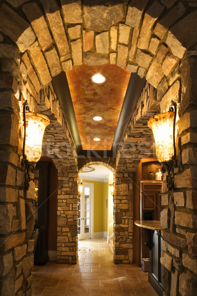 Arched hallway in house. Stock photo © iofoto