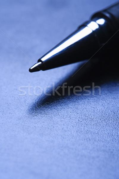 Stylo pointe bleu affaires Photo stock © iofoto