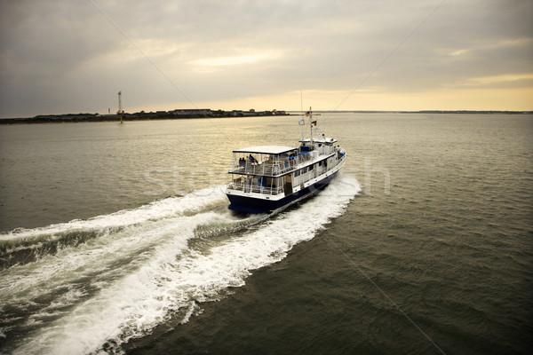 Balsa barco passageiros oceano careca cabeça Foto stock © iofoto