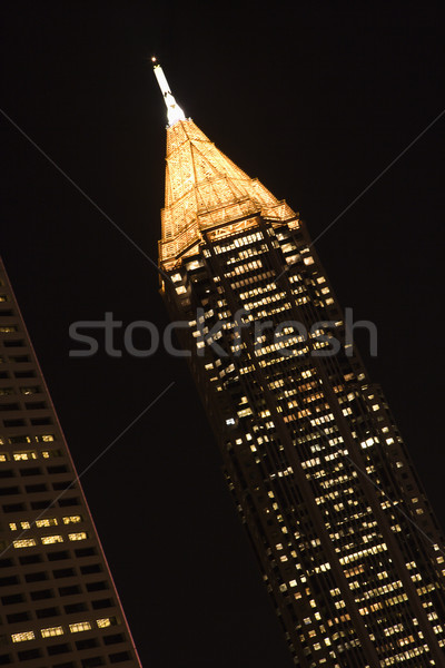 Skyscraper at night. Stock photo © iofoto