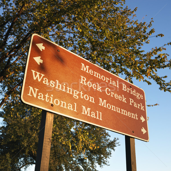 Washington, DC sign. Stock photo © iofoto