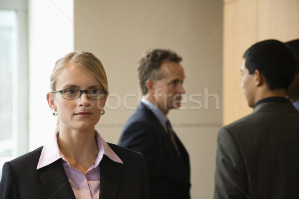 Businesswoman and Businessmen Stock photo © iofoto