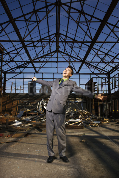 Young Businessman Smiling With Arms Open Stock photo © iofoto