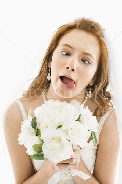 Bride making funny face. Stock photo © iofoto
