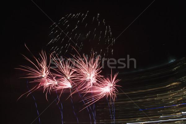 Multicolored fireworks. Stock photo © iofoto