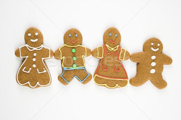 Stockfoto: Peperkoek · familie · cookies · holding · handen · gelukkig · kleur