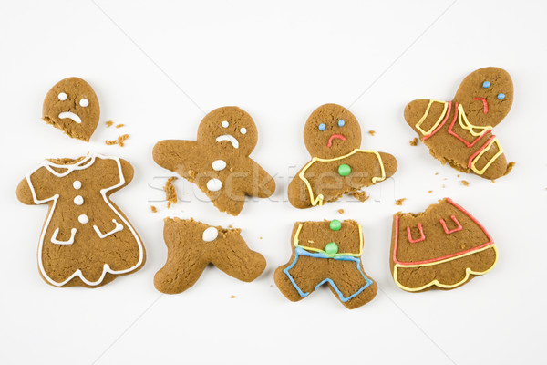 Broken gingerbread cookies. Stock photo © iofoto