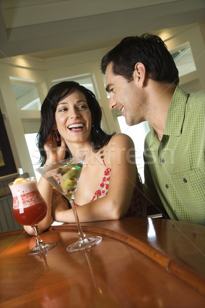 Couple Having Drinks Stock photo © iofoto