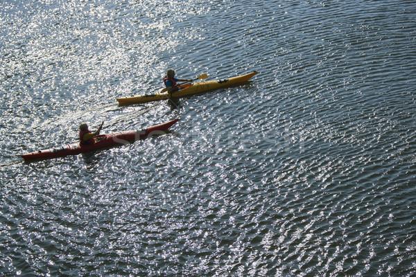 Boys sea kayaking. Stock photo © iofoto