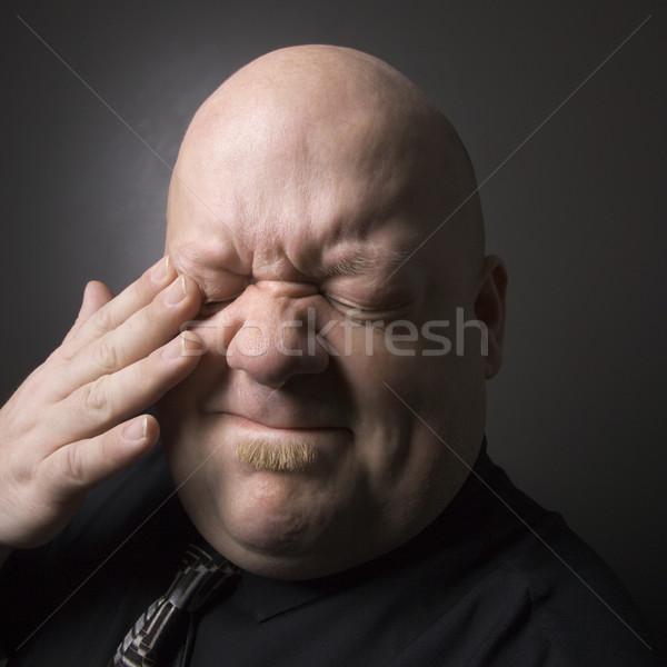 Сток-фото: человека · кавказский · взрослый · лысые · глаза