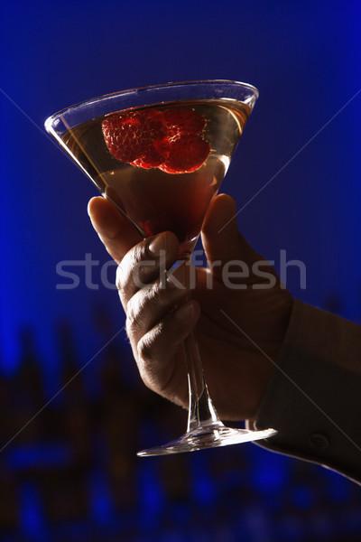 Hand holding martini. Stock photo © iofoto