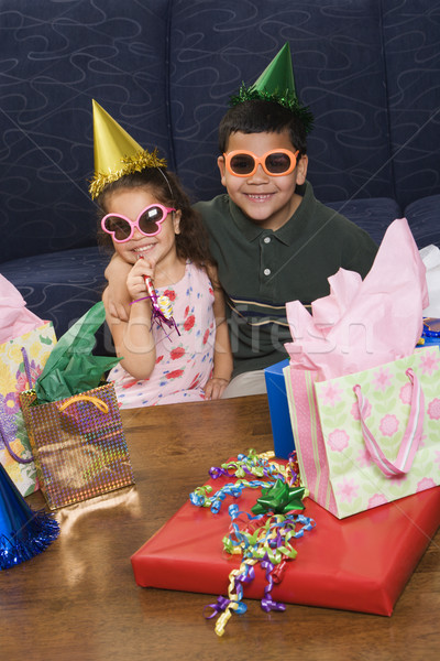 Kids having birthday party. Stock photo © iofoto