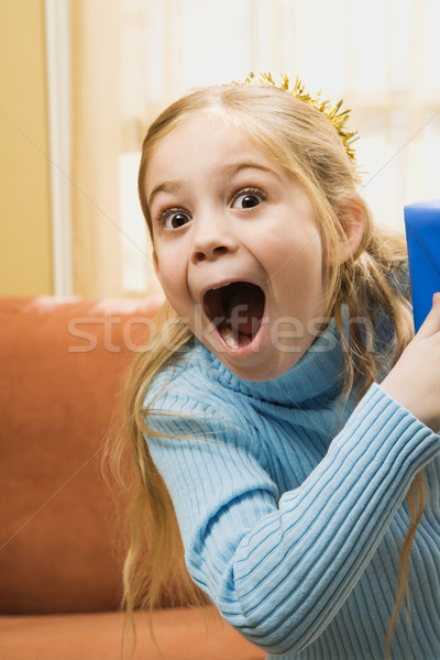 Excited girl. Stock photo © iofoto