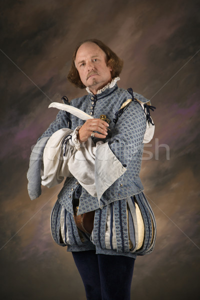 Shakespeare with quill pen. Stock photo © iofoto