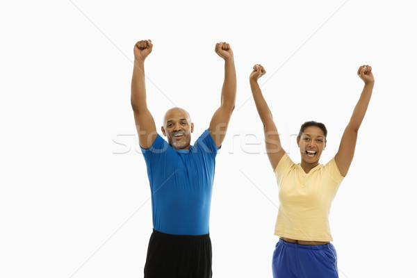 Enthousiast man vrouw volwassen Stockfoto © iofoto