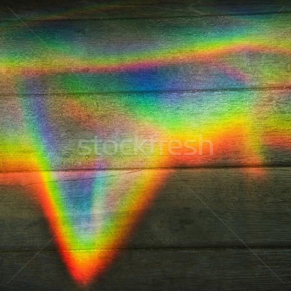 Rainbow colore prisma abstract design legno Foto d'archivio © iofoto