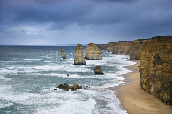 Rock formation on coast. Stock photo © iofoto
